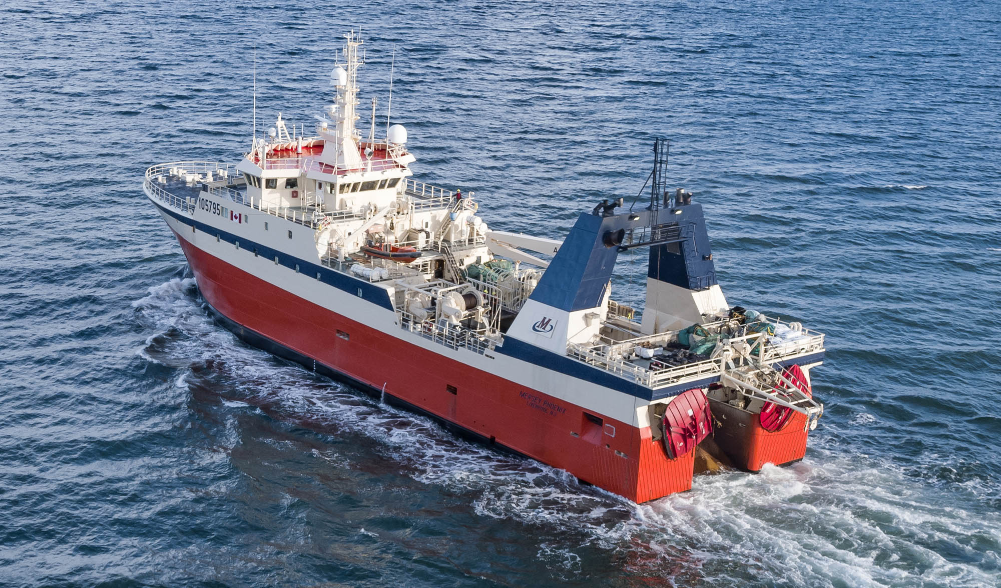 Mersey Phoenix at sea